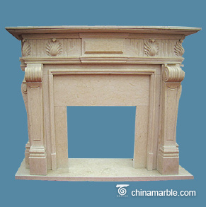 Galala cream fireplace