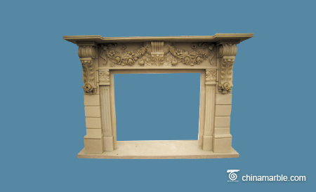 Marble carved mantel