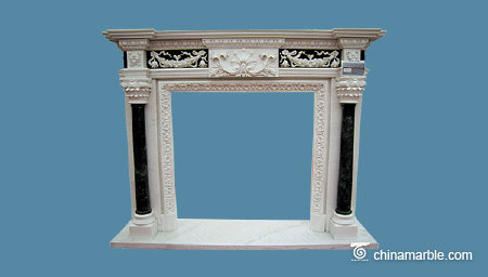 Multicolor Marble Fireplace