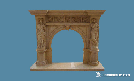 Sanstone fireplace mantel