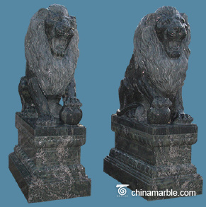 Green Marble Lion