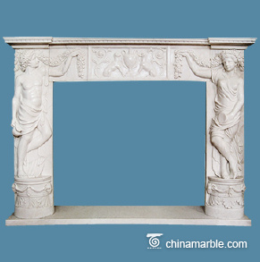 White marble surround