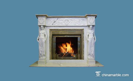 Statues Fireplace