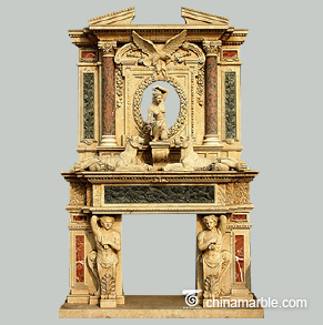 Statues Double Fireplace