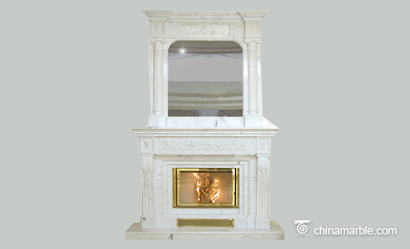 White Marble Overmantel