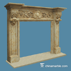 Cream Limestone Mantel