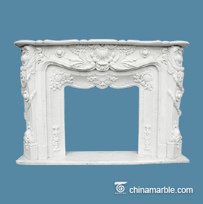 Marble and Stone Fireplace