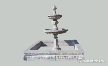 Square Pool marble fountain
