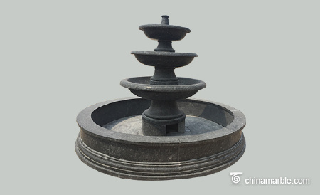 Black Stone fountain