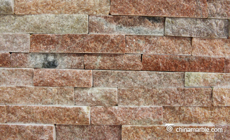 Pink  Stone Wall Rockface Cladding CS-093 2