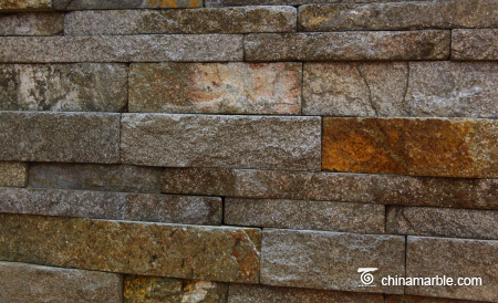 Red Granite Stone Wall Ledge Cladding