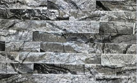 Black Wooden Vein Marble Wall Cladding WPB-51