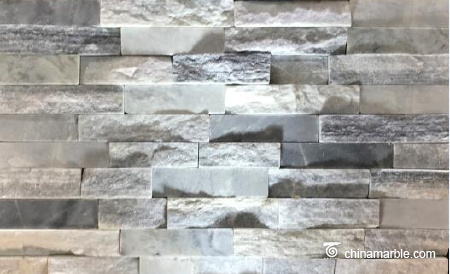 Grey Cloudy Marble Wall Stone Cladding WPB-58