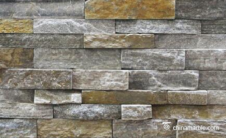 Pink Quartzite Stone Rock Face Wall cladding