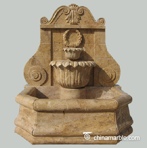 Travertine Water Fountain