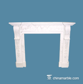 White Carving Mantel