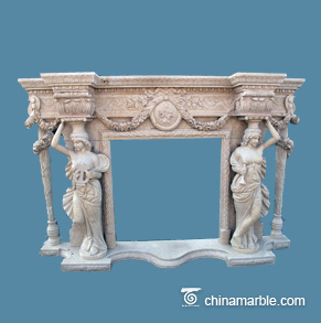 Large Carving Mantel