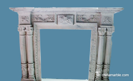 Pillars Marble Mantel