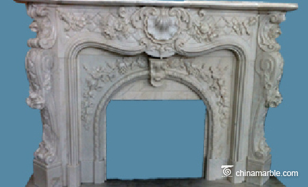 Flower Carving Mantel