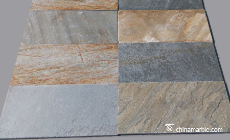 P014 Desert Gold Slate Flooring Tiles