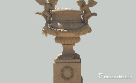 Angles Carved Urn