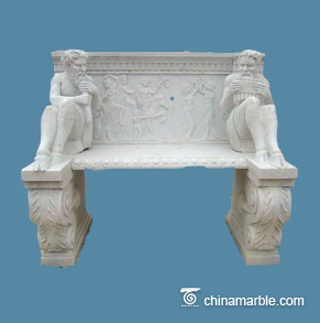 Statues Carved bench