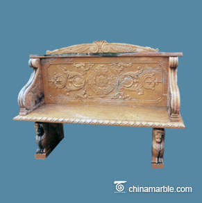 Grand marble bench
