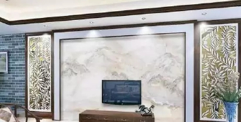 The corporate lobby marble mural