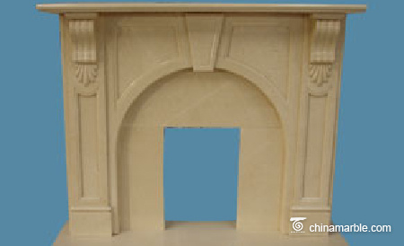 Modern Design Limestone Fireplace Mantel Shelf