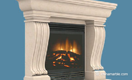 limestone fireplace mantel/limestone fireplace surrounds/freestanding fireplace surround