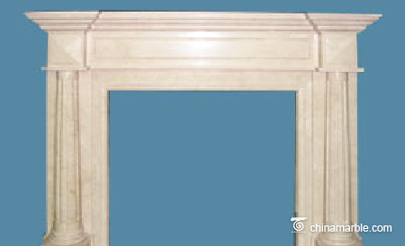 Cream Marfil fireplace