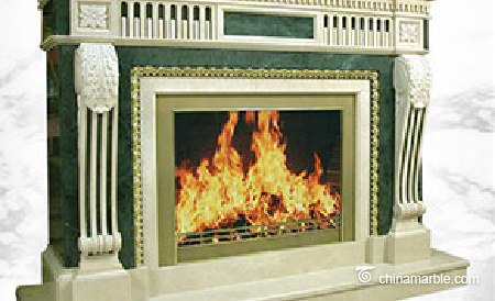 Mixed Marble Fireplace