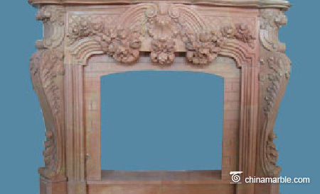 Red Marble Mantel