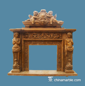 Fireplace with Overmantel