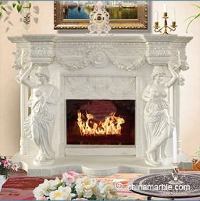 Grand Statues Fireplace