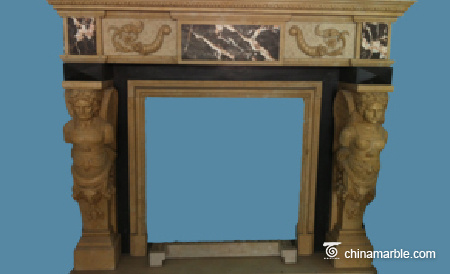 Carved Stone Mantel
