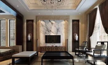 Exquisite marble TV backdrop