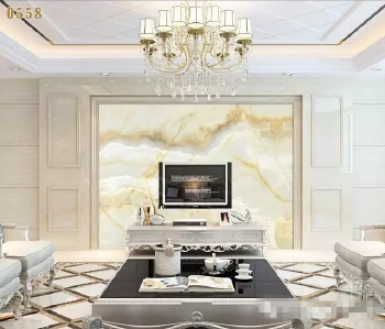 Marble decoration effect with pictures