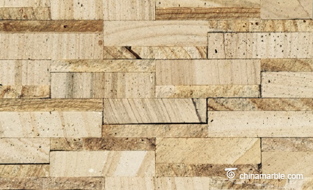 Golden Wood Vein Sandstone Wallstone
