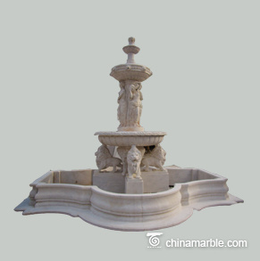 White Marble Fountain