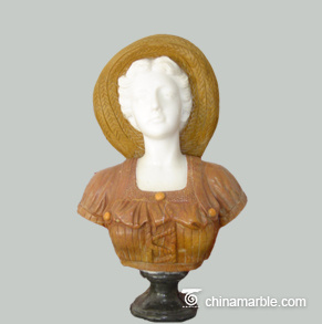 female bust sculpture/female marble bust sculptures/white marble woman bust sculpture