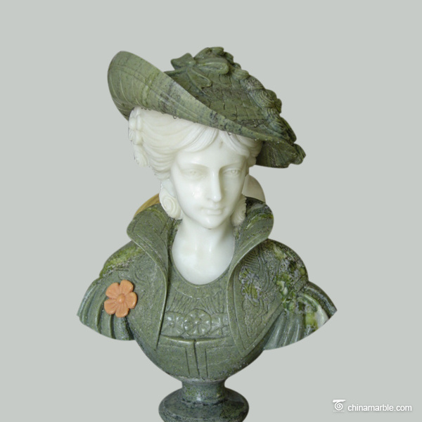 marble bust statue/woman bust statues/bust woman stone statue