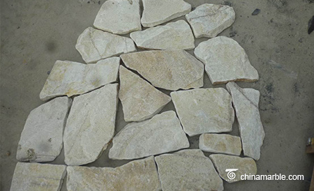 White Wallstone Random Loose Stacked Stone