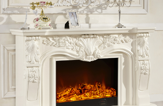 What's the minimum distance for a mantle above a fireplace surround