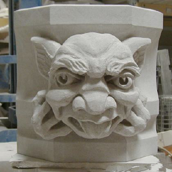 Marble carving-The Indiana State Museum Gargoyle
