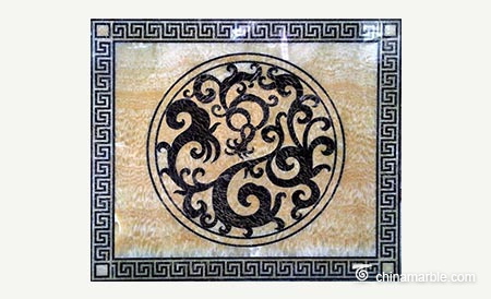Marble Water Jet Medallion/Water Jet Marble Floor Medallion/Water Cut Floor Medallion