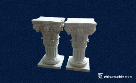 ornamental statue pillar design/decorative wall pillars stone/natural stone gate pillar