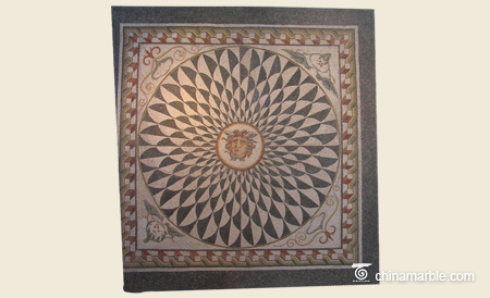 Square Waterjet Medallion/Marble Medallion/Water Jet Marble Floor Medallion