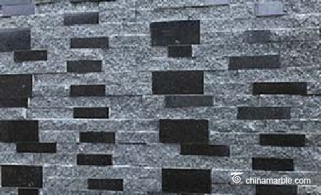 Natural Black Granite Wall Stone Cladding Ledge Stone
