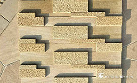 Yellow Sandstone Stacked Ledge Stone